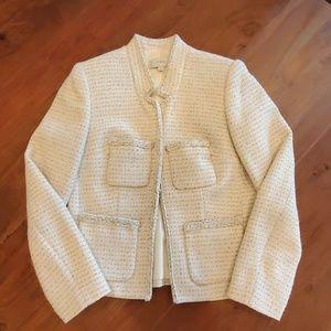 J.Crew Metallic Tweed Jacket Size 2